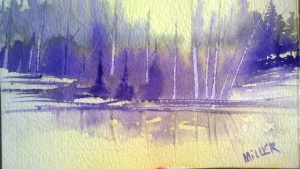 Watercolor on 140# cp
