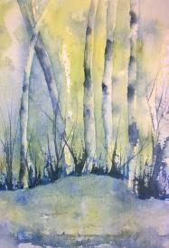 Watercolor Birch Tree Art