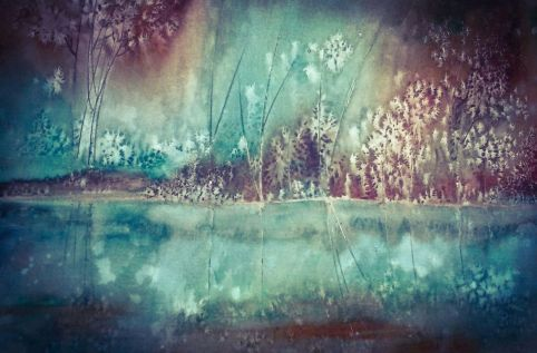 Negative Painting in watercolor