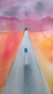 Watercolor Landscape wip