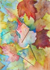 Watercolor artwork of Autumn Leaves