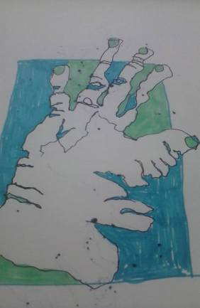 Artwork of a Blind Drawing by E. Miller