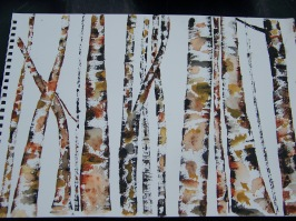 Birch Trees in watercolor