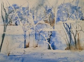 watercolor landscape from the mind