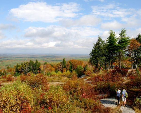 Maine hikes in fall are always breathtaking.