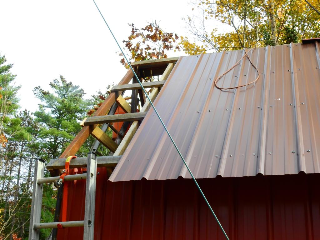Steel Roofing job in progress.
